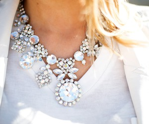 fashion, necklace, and blonde image