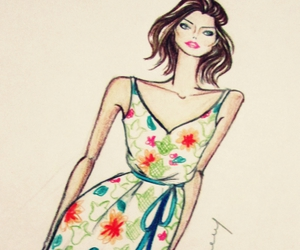 dress, fashion, and fashion ilustration image