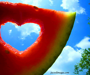 delicious, heart, and summer time image