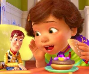 disney, girl, and hamburger image