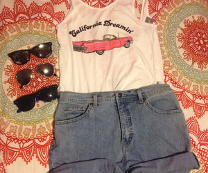 california, outfit, and pink image