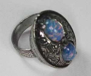 adjustable, vintage ring, and celtic design image