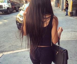 girl, hair, and black image