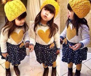 baby, yellow, and kids image