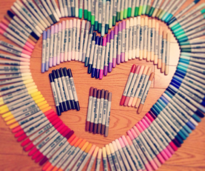 color, heart, and marker image