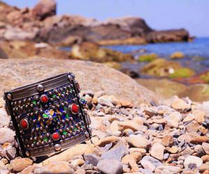 bijoux, bracelet, and plage image