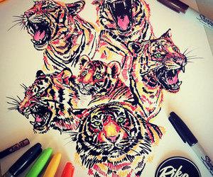 art, rik lee, and tiger image