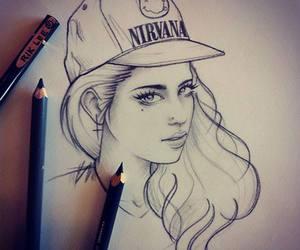 girl, drawing, and nirvana image