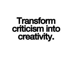 :), creativity, and critisism image