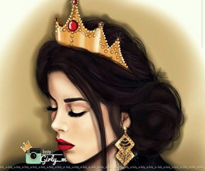 girly_m, drawing, and Queen image