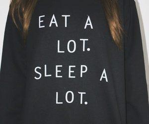 sleep, eat, and black image