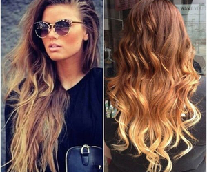 hair, ombre, and sunglasses image