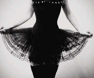 black, dress, and beautiful image