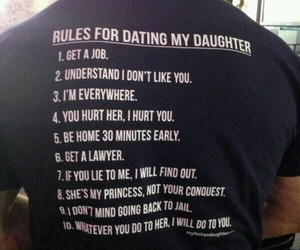dad, rules, and daughter image