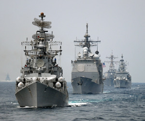 navy, ships, and ocean image