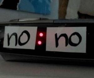 no, clock, and grunge image