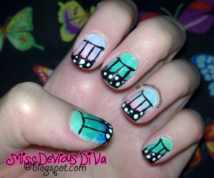 blue, butterfly, and nails image