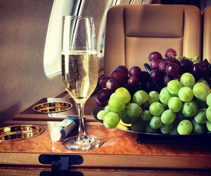 luxury, champagne, and grapes image
