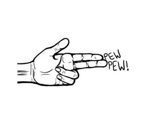 gun, hand, and pew image