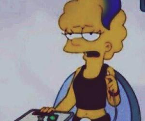 grunge, simpsons, and lisa image
