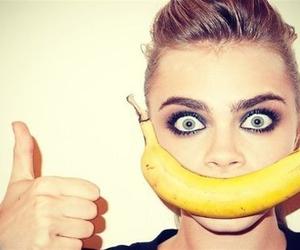 model, banana, and cara delevingne image