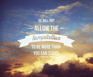 bible, quote, and temptation image