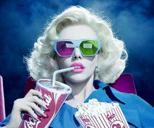 popcorn, cinema, and 3d image