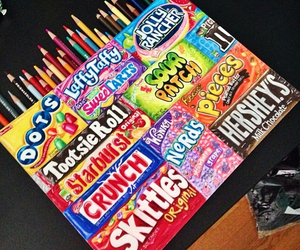 art, candy, and chocolate image