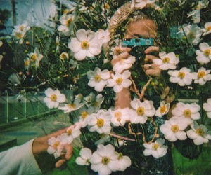 double exposure, girly, and white image