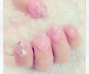 girly, heart, and nail image