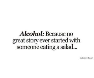 alcohol, salad, and story image
