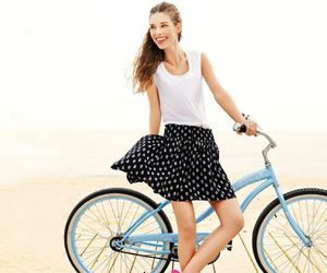 beach, blue, and cycle image