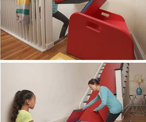 home, slide, and stair image