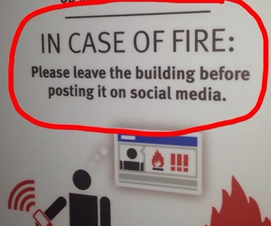 funny, fire, and social media image