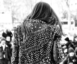 jacket, studs, and red image