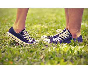 converse, couple, and cute image