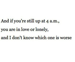 in love, don't know, and lonley image