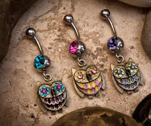 owl, piercing, and style image