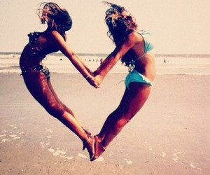 best friends, have fun, and summer image