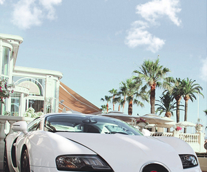 car, bugatti, and white image