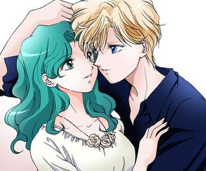 sailor moon, michiru, and haruka image