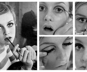 twiggy, beautiful, and black and white image