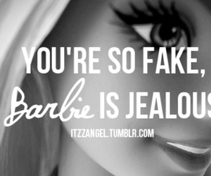 barbie, bitch, and fake image