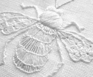 bee and embroidery image