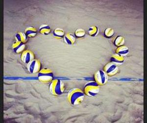 heart, volleyball, and ball image