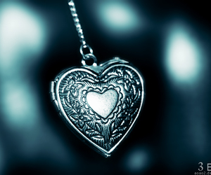 heart, locket, and old image