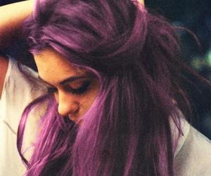 girl, hair, and purple image