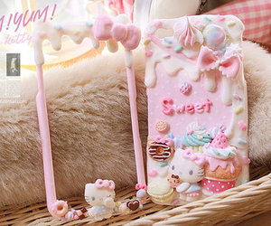 candy, hello kitty, and food image