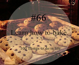 66, 100 things to do in life, and bake image