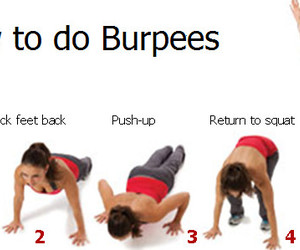 workout, burpees, and exercise image